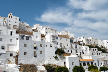 White houses of Vejer de la Frontera town in Cadiz, Andalusia, Spain