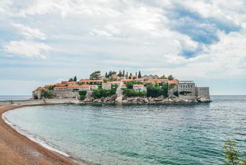 Famous Sveti Stefan island
