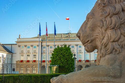Fototapety, obrazy : Presidential palace, City Center of Warsaw, Poland