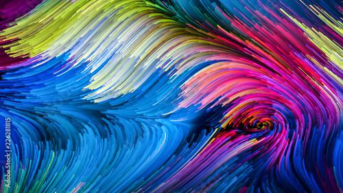 Synergie kolorowej farby