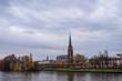Dreikönigskirche church in Frankfurt from over Main