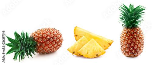 Leinwandbild Motiv pineapple isolated on white