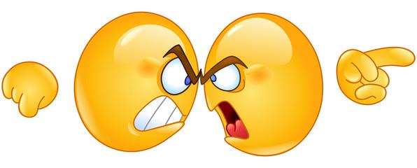 Arguing emoticons