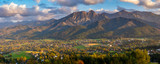 Panorama of Tatra Mountains and resort Zakopane-Autumn, Poland