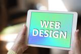 Web design concept on a tablet - 226312044