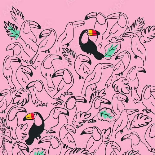 c87ddaf4a Hand drawn cute bird vector design for t shirt printing | Buy Photos ...