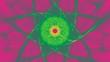 canvas print picture - Sternfoermiger Hintergrund - Leuchtendes Gruen auf Violett