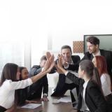 Business team making high five - 226329482