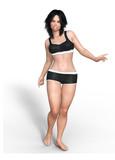girl 005 / figura  donna 3d