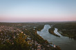 panorama sunset over the river rhine 3 - 226353052