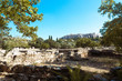 the ruins of ancient Greece and the Acropolis