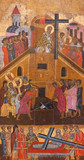 The Exaltation of the Holy Cross - ancient painting of 17-th century - 226373427