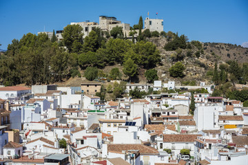 Monda is a beautiful and white village in Malaga province, Spain © Evan Frank