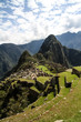 machu picchu peru different perspective with inca terrace in foreground and montana wayna picchu in background