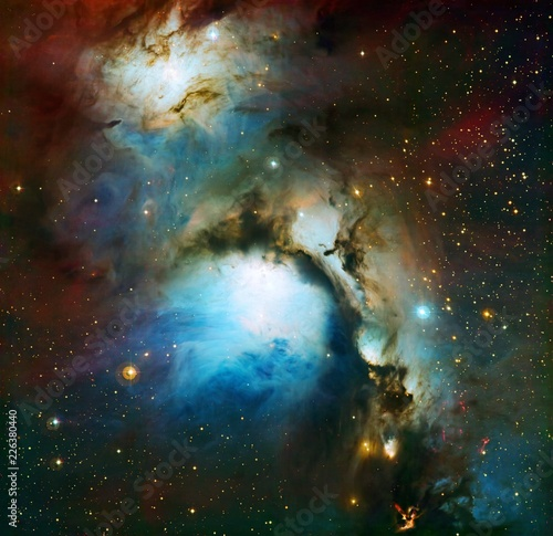 Messier 78 A Reflection Nebula In Orion Color Enchanced Galaxy Universe Background Wallpaper