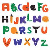 Cartoon alphabet characters - 226380823