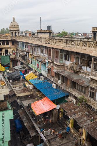 Foto Murales Delhi Slum Indien