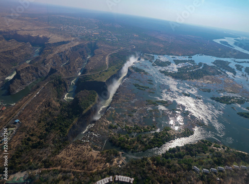 Aerial view of Victoria Falls in Zimbabwe - 226387214