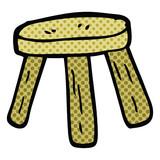 comic book style cartoon small stool - 226387476