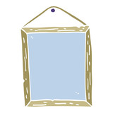 flat color illustration cartoon picture frame