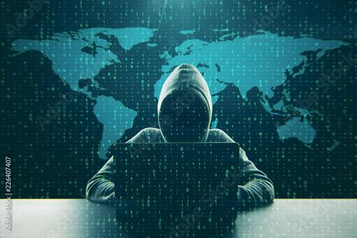 Leinwanddruck Bild Computing and hack concept