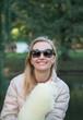 Quadro Smiling woman in park