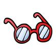 vector gradient illustration cartoon spectacles