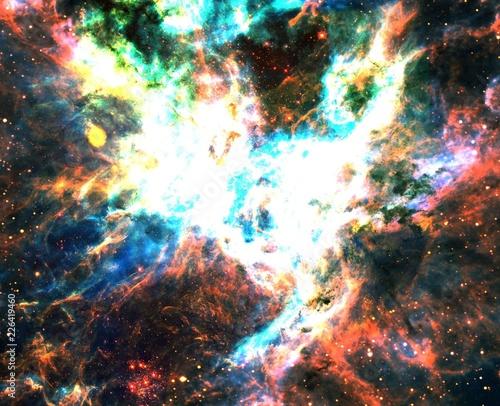 Super Bright Color-Enhanced Tarantula Nebula Galaxy Universe Background Wallpaper Original Image Credit NASA/ESA/Danny LaCrue