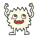 comic book style cartoon funny furry monster - 226420490