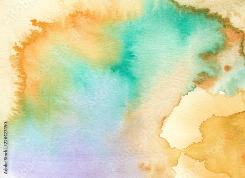Pastelowy akwareli tło, Abstrakcjonistyczny akwareli tło. Ręcznie malowane ilustracji