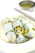 Noodle rolls with vegetables