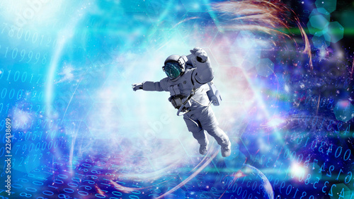 asronaut in open space-Elements of this Image Furnished by NASA
