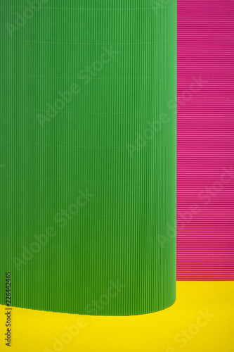 Abstract background of sheets of colored paper, for decoration, for text design, for template - 226442465