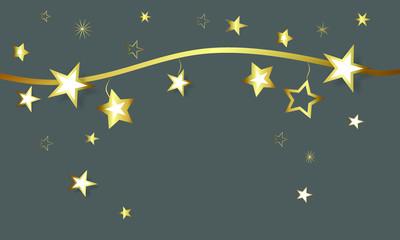 Stern Sterne Band Banner Stars Star Welle Hintergrund Weihnachten Gold