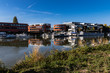 Leinwandbild Motiv Yachthafen Hannover am Mittellandkanal