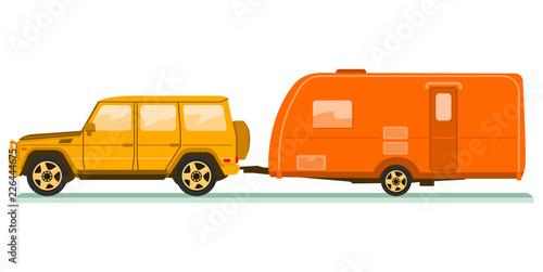 Car and trailers caravan - 226444675