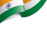 India flag, vector illustration on a white background