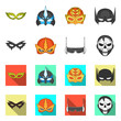 Isolated object of hero and mask logo. Collection of hero and superhero stock symbol for web.