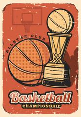 Basketball sport league cup, championship