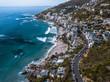 Quadro Cape Town Beach Coastline Aerial Clifton