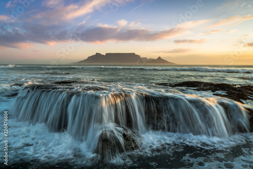 Cape Town Table Mountain beach sunset - 226476604