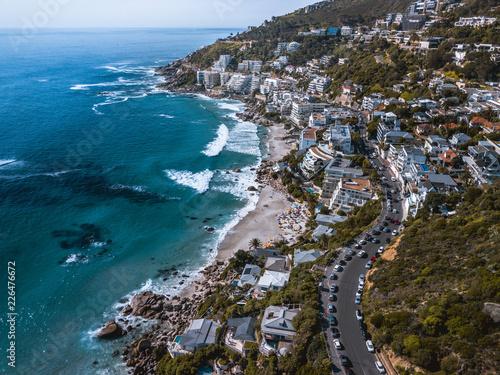 Cape Town Beach Coastline Aerial Clifton