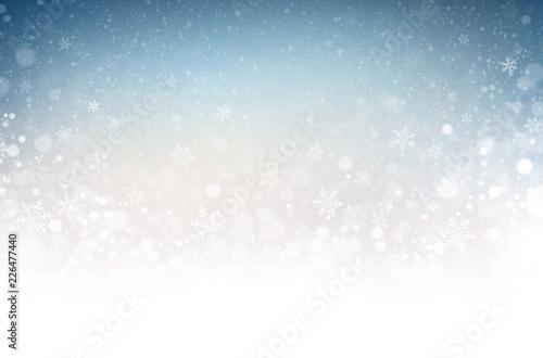 Leinwandbild Motiv Winter snowflakes background