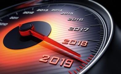 Oranger Tachometer 2019