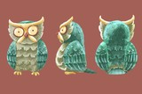 Cute owls character.