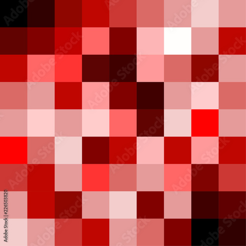 Abstract pixel background , red Christmas or New Year concept - 226503820