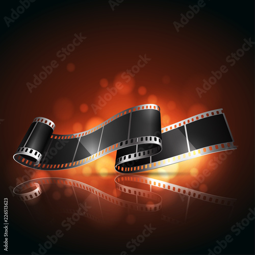 Cinema background or banner.  Highly realistic illustration.