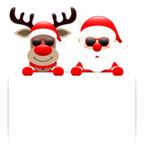 Rudolph & Santa Sunglasses With Label