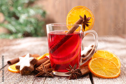christmas tea or mulled wine - 226518674