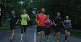 Joggers running at morning in city park - 226523669